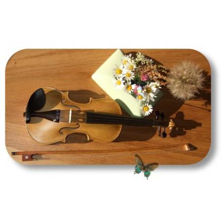 violon 1/4 teinte naturelle feuille de noyer enfant 6 ans