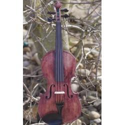 violon végétal 4/4 teinte naturelle fleur de coquelicot