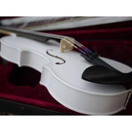 violon 4/4 coloris blanc haut de gamme cordes nylon