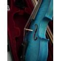violon bleu 4/4 haut de gamme cordes nylon