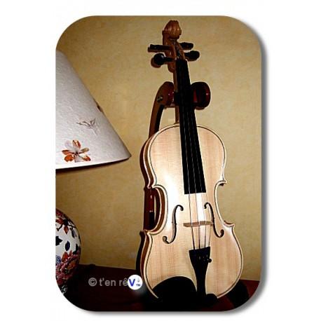 promo -30% violon 4/4 sans couleur bois brut avec un simple vernis incolore brillant